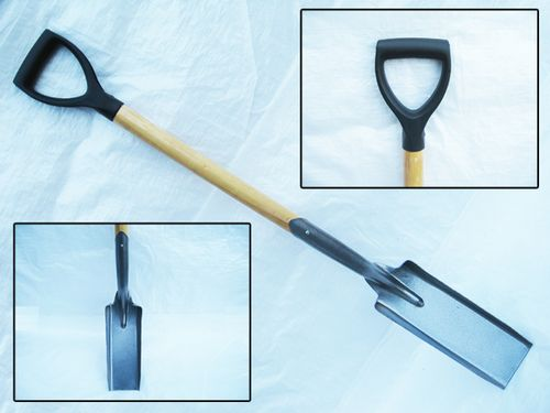 Draining Tool With Wooden Handle- Narrow Shovel / Trenching / Trenches